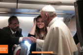 What's it like to fly with the Pope?!