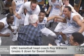 Say What? UNC's Roy Williams busts a move