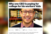 CEO pays for workers' kids' college tuition