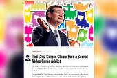 Cruz admits his secret video game addiction