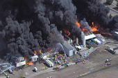 Massive fire breaks out at Texas chemical...