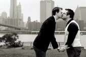 Same-sex couple's engagement picture used...