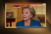 Hillary Clinton speaks out on Bergdahl