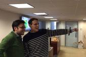 Steve Kornacki's selfie stick