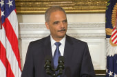 Holder 'clearly' leaving at his highest point