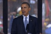 Obama pays tribute to Mandela