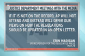 Eric Holder calling for off-record meeting...