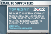 Team Obama collects feedback on campaign