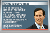Santorum endorses Romney in late-night email