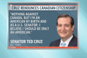 To silence birthers, Cruz rejects Canadian...
