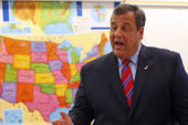 Christie throws staff off the proverbial bus