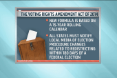 Modest progress on voting rights