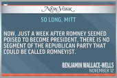 Mitt Romney's dashed presidential dreams