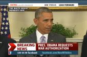 Obama seeks war powers from Congress