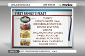 White House Thanksgiving menu