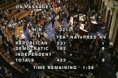 Party lines clear in shutdown debate