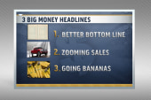 Deficit down, autos and fruit popularity up