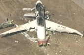 Eye witness: 'The tail was almost vertical...