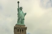 Lady Liberty greets visitors again for...