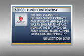 Utah school throws out student's lunches
