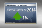 GDP rises only 0.1% in year's first quarter