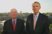 Sens Cardin, Portman in Ukraine for elections