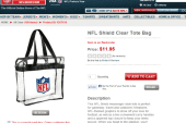 NFL stadiums allowing only clear plastic...