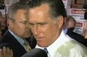 Romney gives cash to jobless woman
