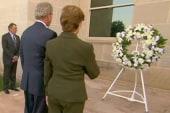 Fmr. President Bush lays 9/11 wreath at...