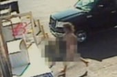 Naked girl escapes father, pleads for help...