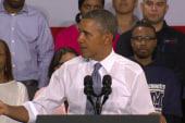 Obama pushing forward