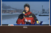 Man in horse mask videobombs snow coverage