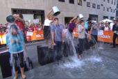 Thomas takes the ice bucket challenge