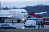 Hijacked flight lands in Switzerland