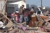 Indiana town takes direct tornado hit
