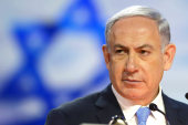 Netanyahu appears at think tank