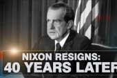 Nixon resigns: 40 years later