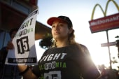 LIVE NOW: Fast food workers protest