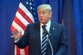 Trump talks rivals, polls at MI press...