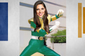 Abby meets up with the Green Power Ranger