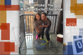 Ella and Krystal and the Ice Bucket Challenge