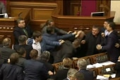 Ukraine parliament breaks out into fist-fight