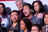 Obama engages immigration heckler
