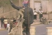 U.S. forces pull down Saddam Hussein's statue