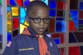 Cub Scouts talk about the K.I.N.D. fund