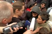 Angelina Jolie mobbed on visit to meet...