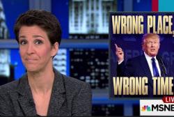 Provocateur Trump speaks at hate crime site