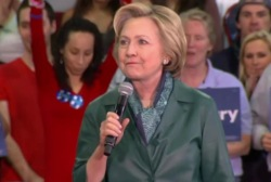 Clinton aims for Northeast rout