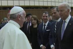 Biden met with Pope Francis