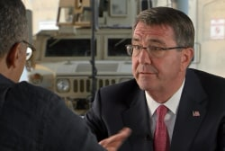 Ash Carter to Lester Holt: We Will Defeat...